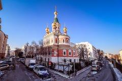 Catedral ortodoxa rusa en Viena Foto de archivo libre de regalías