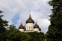 Catedral ortodoxo Alexander Nevsky do russo Imagem de Stock