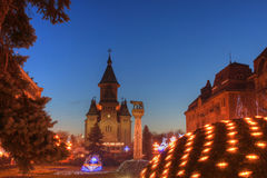 Catedral ortodoxo de Timisoara, Romania Imagem de Stock Royalty Free