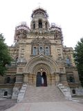 Catedral ortodoxo do mar de São Nicolau, Latvia fotos de stock