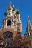 Catedral ortodoxo em agradável, França do russo Fotos de Stock Royalty Free