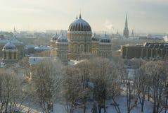 Catedral ortodoxo em Riga Foto de Stock