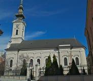 Catedral ortodoxo na rua de Pasiceva, Novi Sad, Sérvia Imagem de Stock Royalty Free