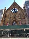 Catedral ortodoxo sérvio de St Sava After o fogo histórico, EUA fotografia de stock royalty free