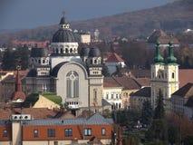 Catedral ortodoxo, Targu Mures, Romênia Imagens de Stock