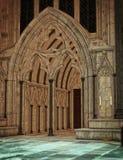 Catedral oscura foto de archivo libre de regalías
