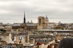 Catedral París de Notre-Dame Imagen de archivo libre de regalías