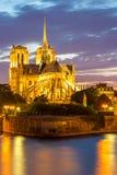 Catedral París de Notre Dame Foto de archivo libre de regalías