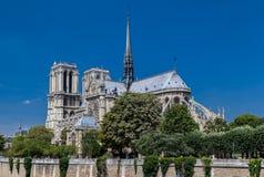 Catedral París de Notre Dame Imagen de archivo libre de regalías