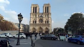 Catedral Paris de Notre Dame Imagens de Stock