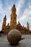 Catedral Pilar del EL en Zaragoza, España Fotografía de archivo