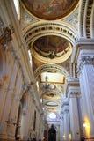 Catedral Pilar do EL na cidade Spain de Zaragoza interno Imagem de Stock