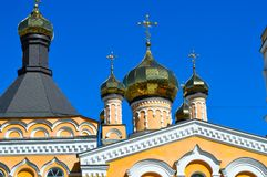 Catedral Plato Church do ` s do patriarca de Saint em Kyiv, Ucrânia o 9 de abril de 2017 Fotografia de Stock