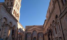 Catedral rachada, Croácia Foto de Stock Royalty Free