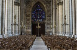 Catedral Reims Rose Window Foto de archivo