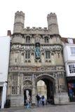 Catedral Reino Unido de Cantorbery de la entrada de la iglesia de Cristo Imagen de archivo libre de regalías