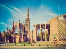 Catedral retra de Coventry de la mirada imagenes de archivo