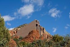 Catedral roja de la roca Fotografía de archivo