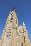 Catedral romana en Novi Sad Imagen de archivo libre de regalías
