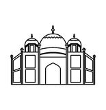 Catedral rome isolated icon. Illustration design Stock Photography