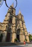 Catedral sagrada del corazón de Shishi en Guangzhou, China fotos de archivo