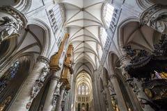 Catedral Saint-Michel-e-Gúdula de Bruxelas, Bélgica Fotografia de Stock