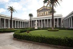Catedral San Pablo fuera de las paredes Roma Imagen de archivo