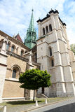 Catedral San Pedro en Ginebra imagen de archivo libre de regalías
