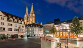 Catedral San Pedro en Regensburg fotografía de archivo
