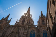 Catedral Sant'Eulalia, Barcelona Royaltyfri Fotografi