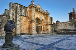 Catedral Santa María. The Cathedral of Santa María la Menor in the Colonial Zone of Santo Domingo is dedicated to St. Mary of the Incarnation. It is the oldest Stock Images