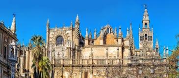Catedral Santa María del ver Sevilla, España fotografía de archivo libre de regalías