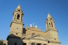 Catedral Santa María real en Pamplona Foto de archivo libre de regalías