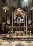 Catedral Santa María real en Pamplona Fotos de archivo libres de regalías