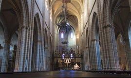 Catedral Santa María real en Pamplona Imágenes de archivo libres de regalías