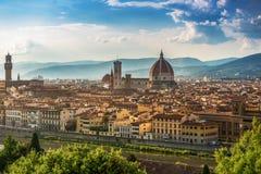 Catedral Santa Maria del Fiore em Florence Skyline City, Tuscan Fotografia de Stock