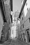 Catedral Santa Maria del Fiore en blanco y negro Fotos de archivo libres de regalías