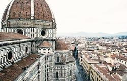 Catedral Santa Maria del Fiore en Florencia, Italia, filtro retro imagen de archivo