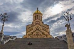 Catedral santamente da trindade de Tbilisi foto de stock royalty free