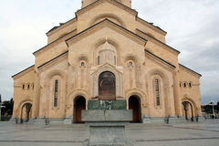 Catedral Tbilisi da trindade santamente Fotos de Stock Royalty Free