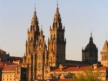 catedral santiago royaltyfria bilder