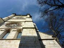Catedral Santo-Pedro en Ginebra, Suiza Foto de archivo