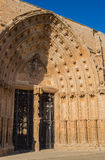 Catedral Seu Vella Lleida da porta dos apóstolos Fotografia de Stock Royalty Free