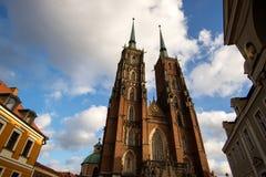 Catedral Silesia de Wroclaw Imagem de Stock Royalty Free
