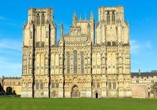 Catedral Somerset, Inglaterra de Wells Imagen de archivo libre de regalías