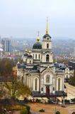 Catedral Spaso-Preobrazhensky em Donetsk, trabalho da arquitetura imagens de stock