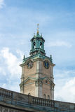Catedral Storkyrkan, Estocolmo de la torre fotografía de archivo libre de regalías