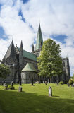 Catedral Strondheim de Nidaros Fotografía de archivo