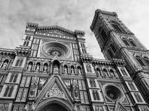 Catedral torre de sino de Santa Maria del Fiore e de Giotto, Florença Foto de Stock