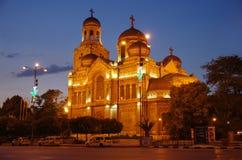 Catedral Varna, Bulgária Fotos de Stock Royalty Free